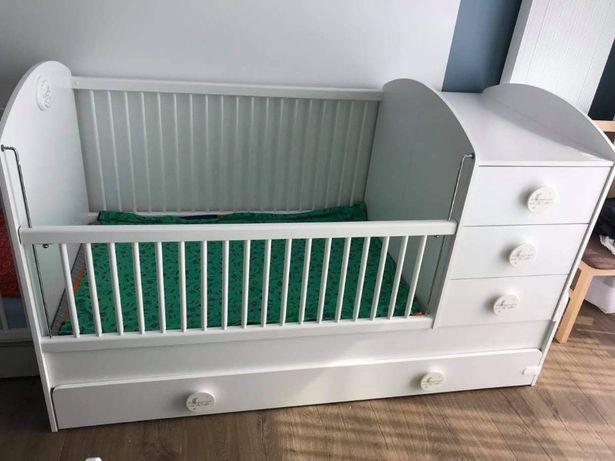 Łóżeczko kompaktowe CILEK cotton baby z przewijakiem 180cmx80cm