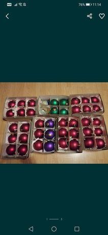 Duże szklane bombki do kolekcji Średnica 10 cm czerwone zielone fiolet