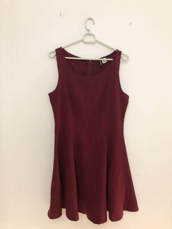 Bordowa sukienka H&M 38
