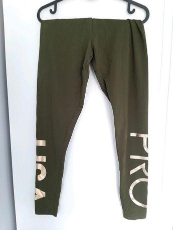 Legginsy damskie USA pro S/36 zielone złote khaki czarne