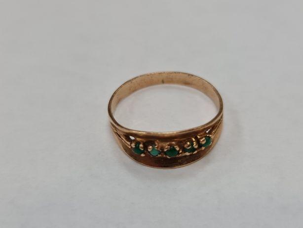 Turkusy! Wyjątkowy złoty pierścionek damski/ 750/ 2.26 gram/ R16