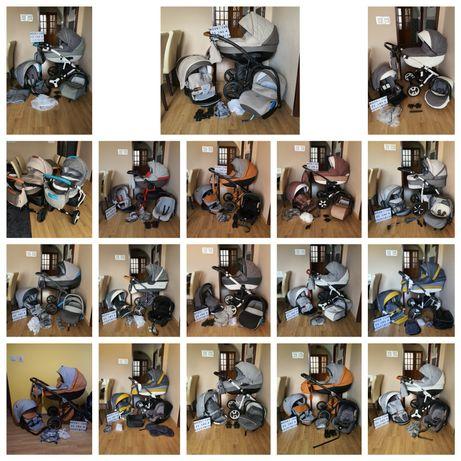 Wózek wózki 2w1 3w1 4w1 Bebetto Adamex Anex Riko coletto camarelo