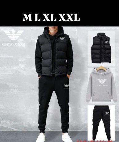 Komplet męski 3 częściowy dres + bezrękawnik Emporio Armani M L XL XXL