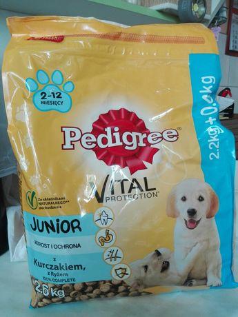 Pedigree Junior vital 2,6kg + 1,5kg kurczak i ryż