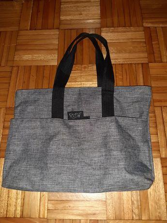 Bolsa/ mala cinzenta como nova