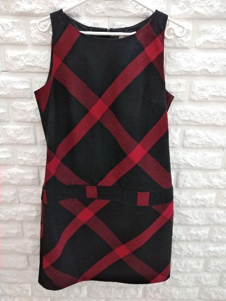 Czarno-czerwona tunika sukienka Camaieu S/M