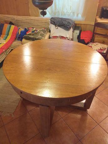 Stół okrągły debow rozkładany