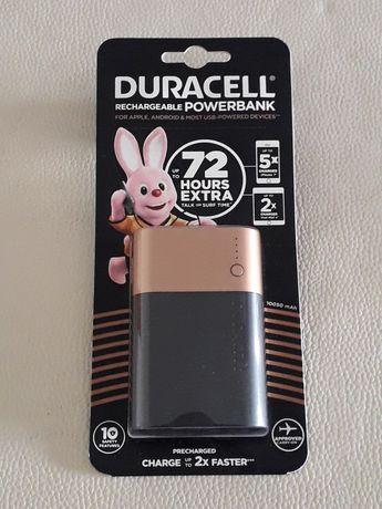 Powerbank bateria Duracell 10k 2 portas entradas USB - Novo selado