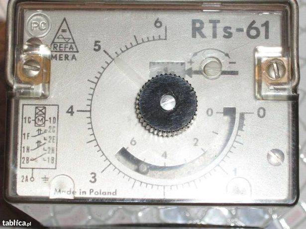 Przekaźnik czasowy RTS-61 230V  od 0,1s do 60 godzin