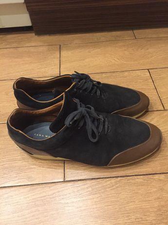 Крутые замшево- кожаные мужские туфли zara размер 44