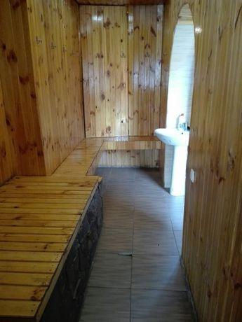 Баня на дровах с бассейном