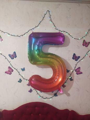 Цифра пять, фальга.