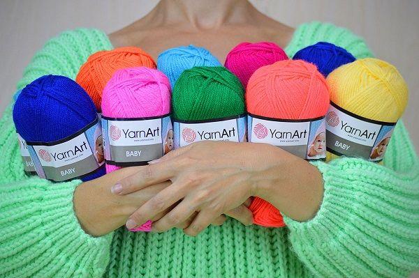 Распродаю пряжу! YarnArt Baby детский акрил, нитки для вязания купить