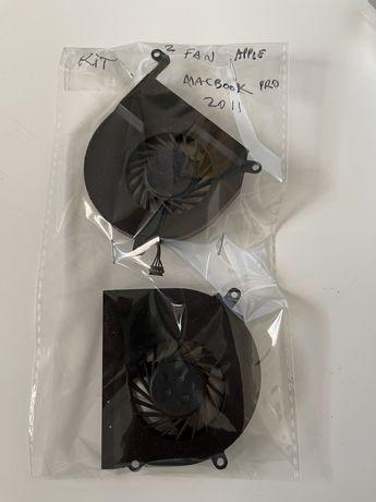 "Kit 2 ventoinhas para Apple macbook pro 15"" 2011 A1286"