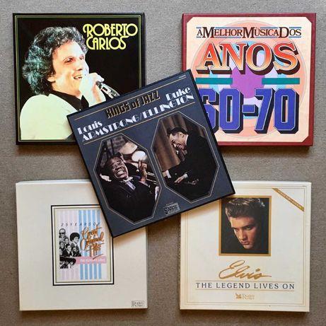 Caixas boxes discos de vinil LP - compilações Motown Elvis Armstrong