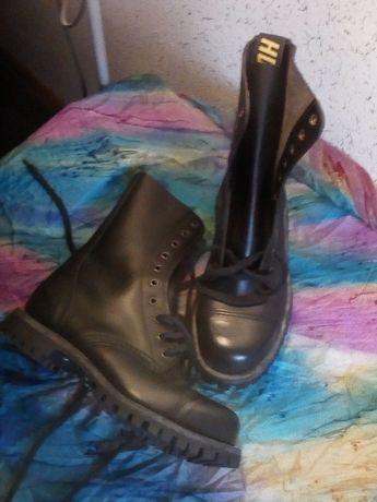 Buty skórzane HD damskie glany 39