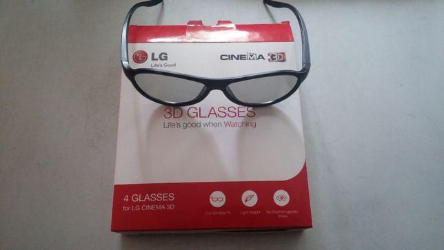 3D очки к телевизорам LG комплект 4 шт.