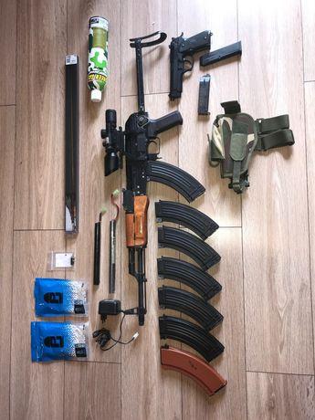 Zestaw Karabin ASG AK47 74 CM.048s snajperka, CQB, Airsoft,