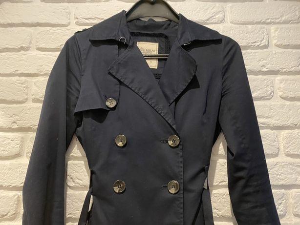 Kurtka płaszcz elegancka PULL&BEAR granatowy S
