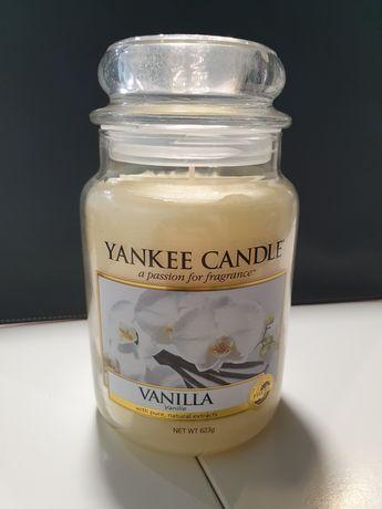 Świeca Świeczka Yankee Candle Wanilia Duża 623g polecam