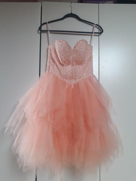 Morelowa sukienka r.34