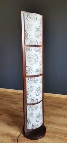 Lampa wolnostojąca QUADRO ROSE IV - drewno + szkło + żarówki