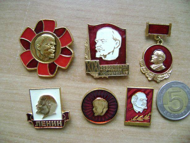 Starocie z PRL Odznaka z Leninem = 6 sztuk kolekcjonerskich z 600 szt.