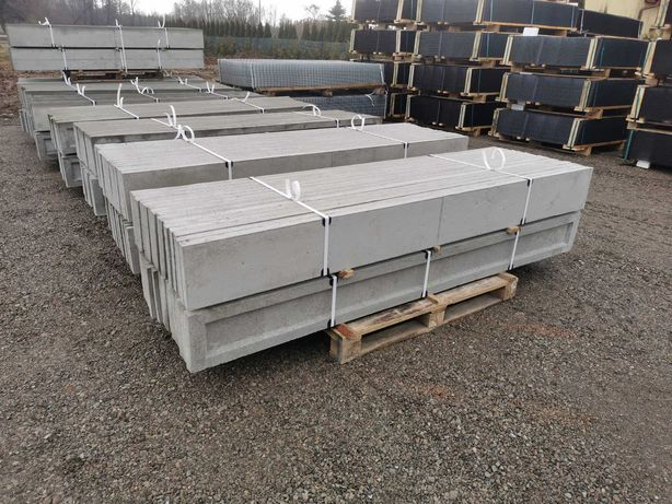 Podmurówka betonowa 245 i 250cm, łącznik , panel ogrodzeniowy