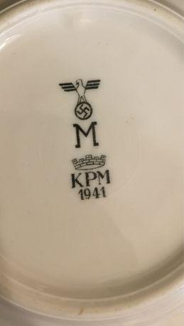 Десертная тарелка Кригсмарине. Вторая Мировая войнв, свастика.