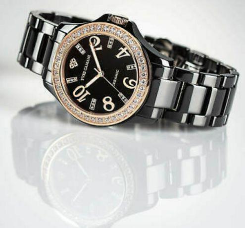 Zegarek damski Yves Camani Cereste ceramiczny - Citizen MIYOTA - NOWY