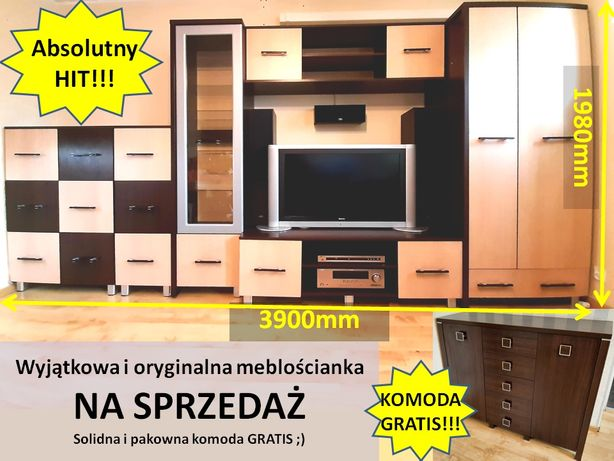 Meblościanka + Gratis Komoda !