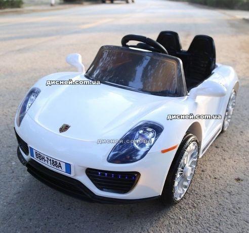 Детский электромобиль T-7616 EVA WHITE, Porsche, Дитячий електромобiль