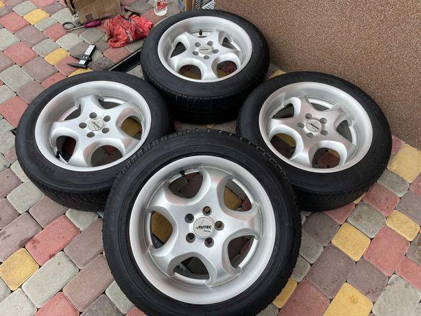 Тітанові діски Autec 5*100 R16 VW Golf 4-Skoda rapid-faBia-Audi 3
