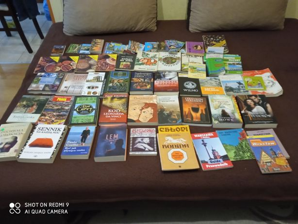 Książki różne 80 szt. Nowe i używane