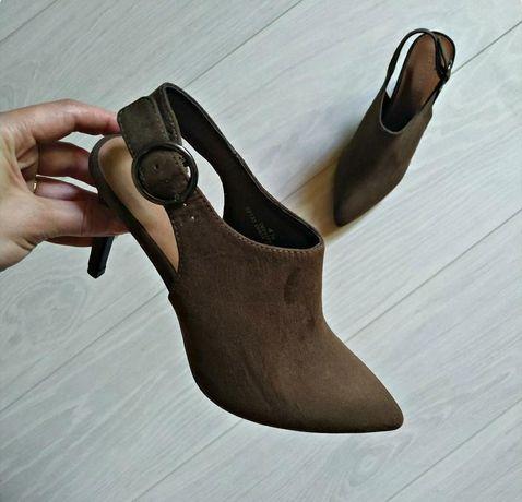 Замшевые туфли m&s 37р хаки