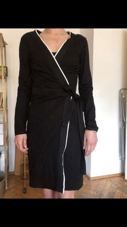MANGO sukienka kopertowa