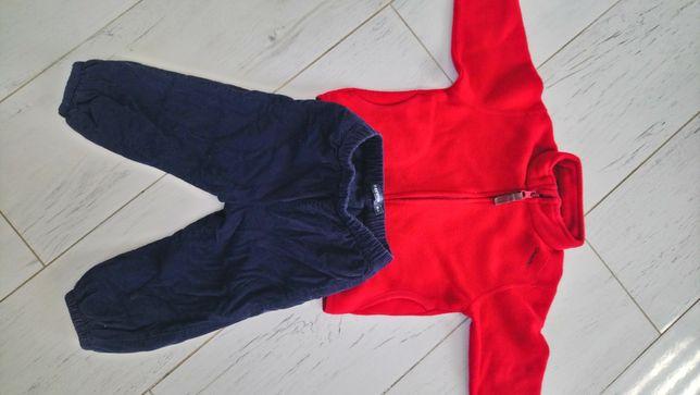 Polar i ocieplane sztruksowe spodnie rozm 80