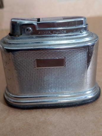 Isqueiro de coleção antigo Silver match em bom estado a funcionar