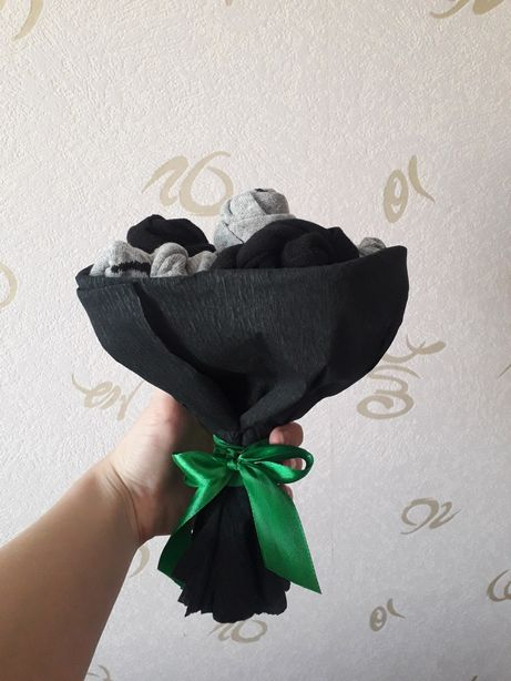 Подарочные букеты с носков