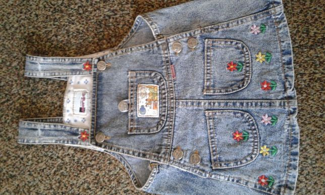 Сарафан джинсовый на малышку.