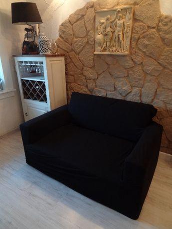 Elastyczny pokrowiec na 2 osobową sofa kanapa - bawełna