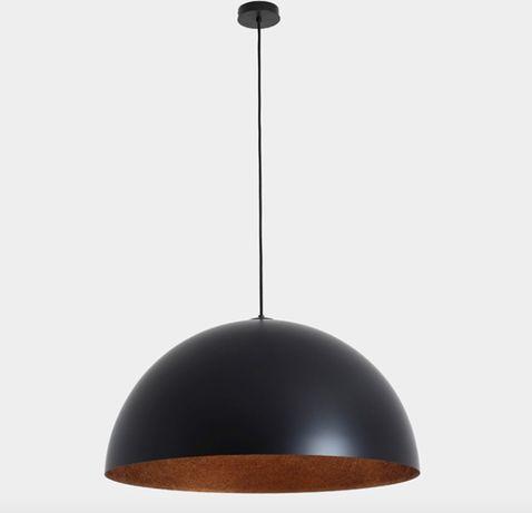 lampa wisząca metalowa miedziano-czarna 70cm Customform