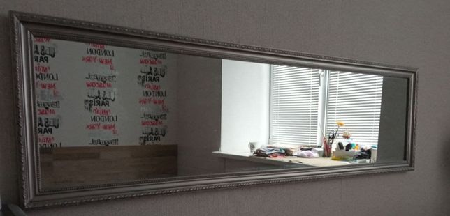 Зеркало в раме 124x36 см для спальни, гостиной, коридора, ванной