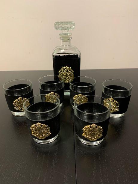 Conjunto de garrafa e copos para whiskey