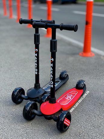 Самокат трехколесный детский самокаты 6KU дитячий скутер Маратон