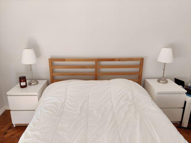 2 Cómodas Ikea MALM com duas gavetas branco mesas de cabeceira