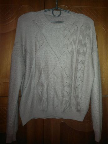 Свитер кофта кардиган пуловер хлопок вязаная oversize оверсайз