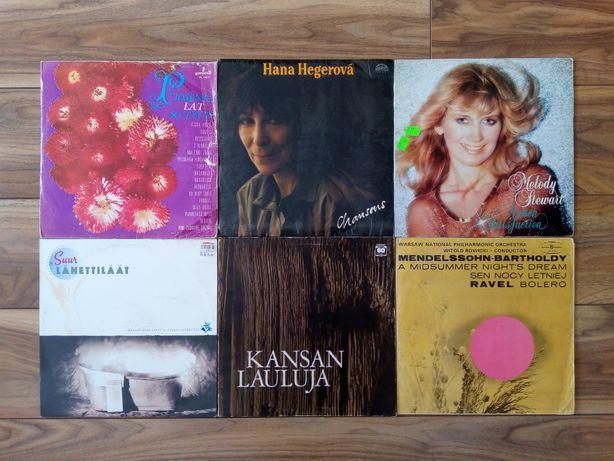 Płyty winylowe: H. Hegerova, M. Stewart, K. Lauluja, Mendelssohn etc.