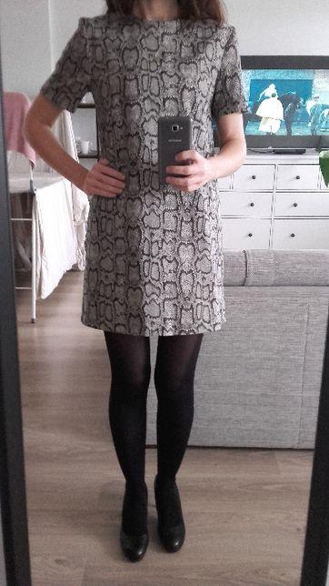 Sukienka Zara rozmiar S Materiał skóra węża