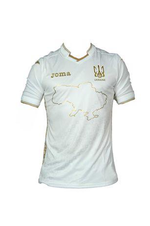 Скандальные футболки сборной с картой Украины для ЕВРО Joma белые